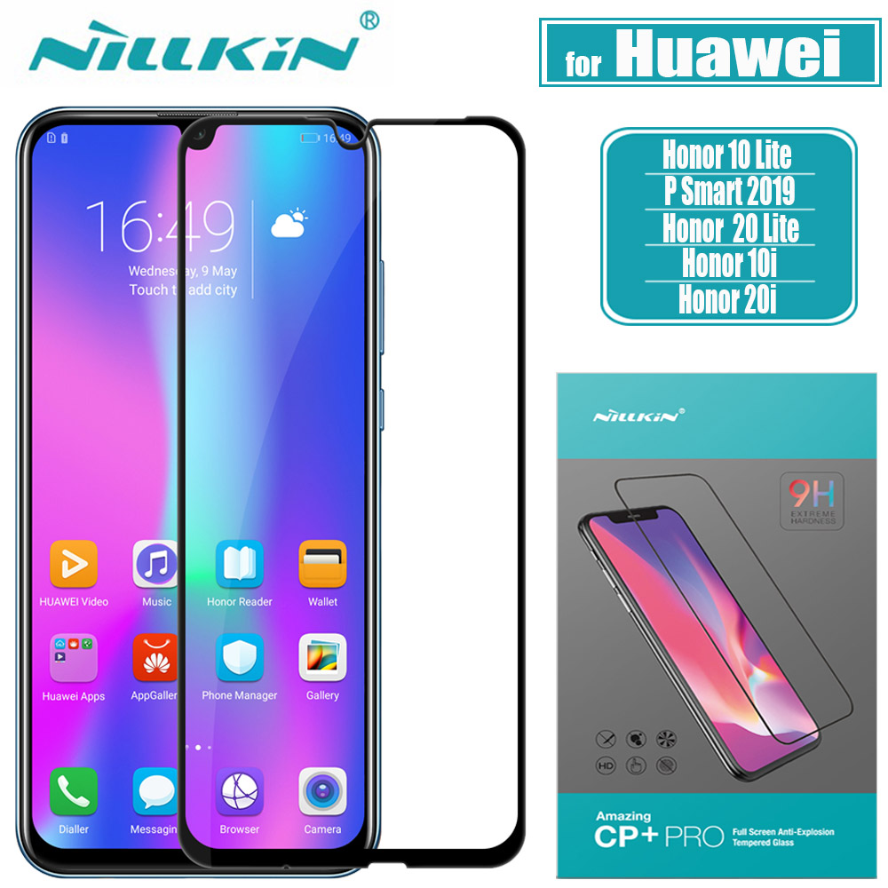 Huawei Honor 20 10 Lite Glass Screen Protector Nillkin 2 5D Full Glue Safety Protective Tempered