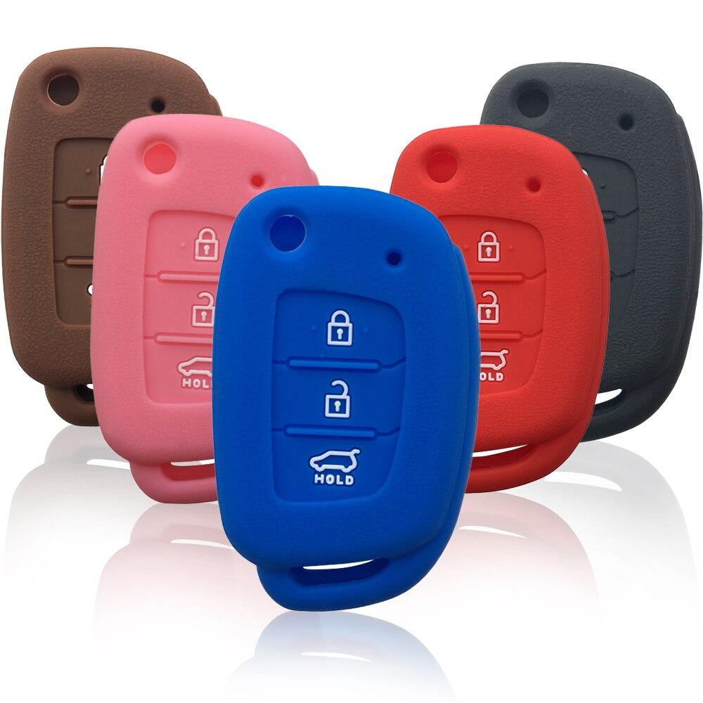 Силиконовый чехол для Hyundai Solaris, Creta Ix25, Kona, Tucson, Sonata I40, Elantra Ix35, I20, Ix45, 2019, чехол для автомобильного ключа, комплект