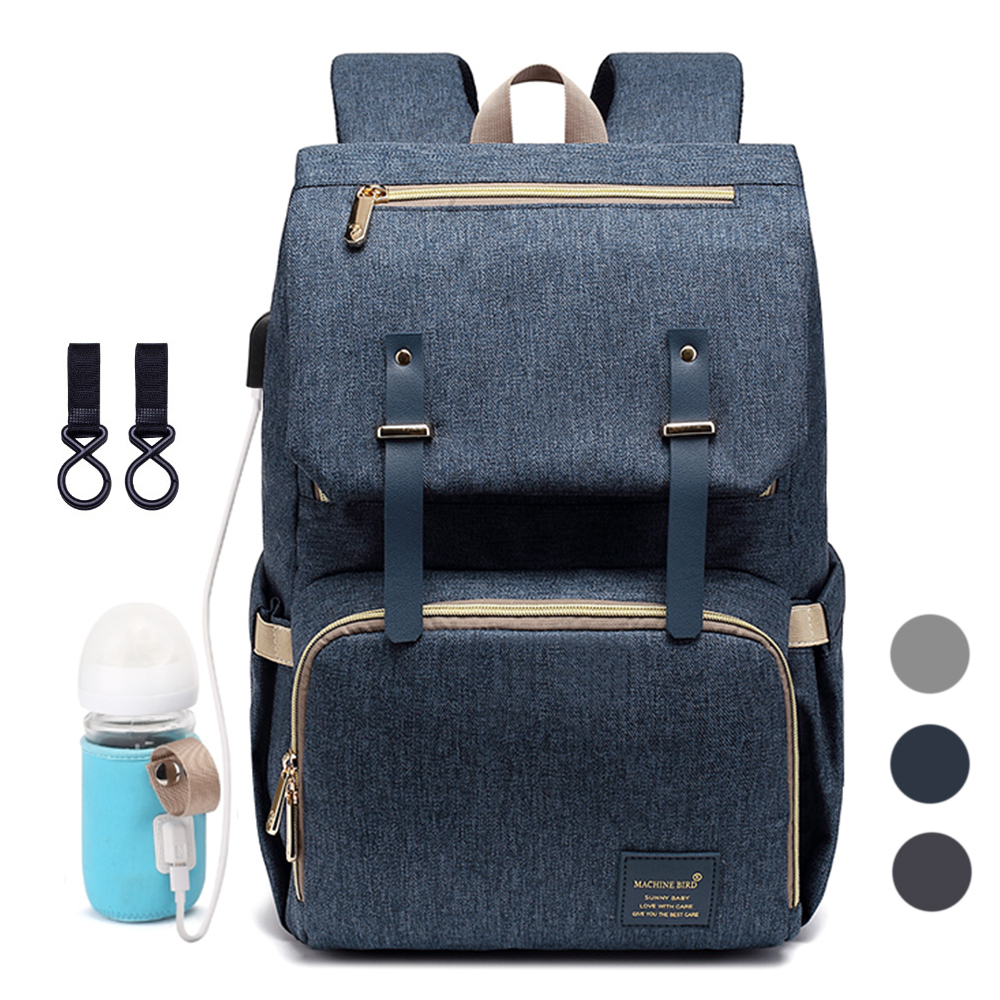 Diaper Bag Backpack For Mom 2019 USB Maternity Baby Care Nappy Nursing Bags Fashion Travel Diaper Backpack For Stroller Kit