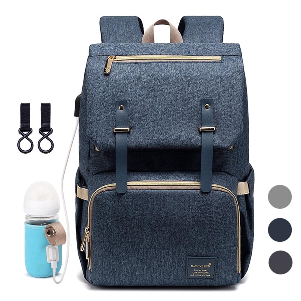 Diaper Bag Backpack for Mom 2019 USB Maternity Baby Care Nappy Nursing Bags Fashion Travel Diaper Backpack for Stroller Kit