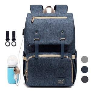 Image 1 - Diaper Bag Backpack for Mom 2020 USB Maternity Baby Care Nappy Nursing Bags Fashion Travel Diaper Backpack for Stroller Kit