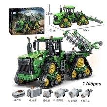 Kazanan şehir teknik serisi Rc paletli traktör kazı makineleri araba modeli yapı taşları tuğla oyuncaklar çocuk hediyeler için