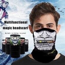 В 3D бесшовный банданы магия шеи любителей мотоциклов Велоспорт лицо маска Шарф печатных Хэллоуин оголовье пешие прогулки щит