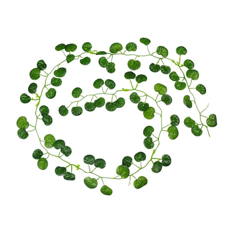2M Long Artificial Plants Green Ivy Leaves Artificial Grape Vine Fake Parthenocissus Foliage Leaves Home Wedding Bar Decoration,