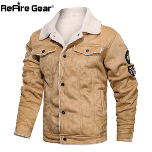 Image 4 - ReFire Gear Winter Warm Army Tactical Jackets Men Pilot Bomber Flight Military Jacket Casual Thick Fleece Cotton Wool Liner Coat