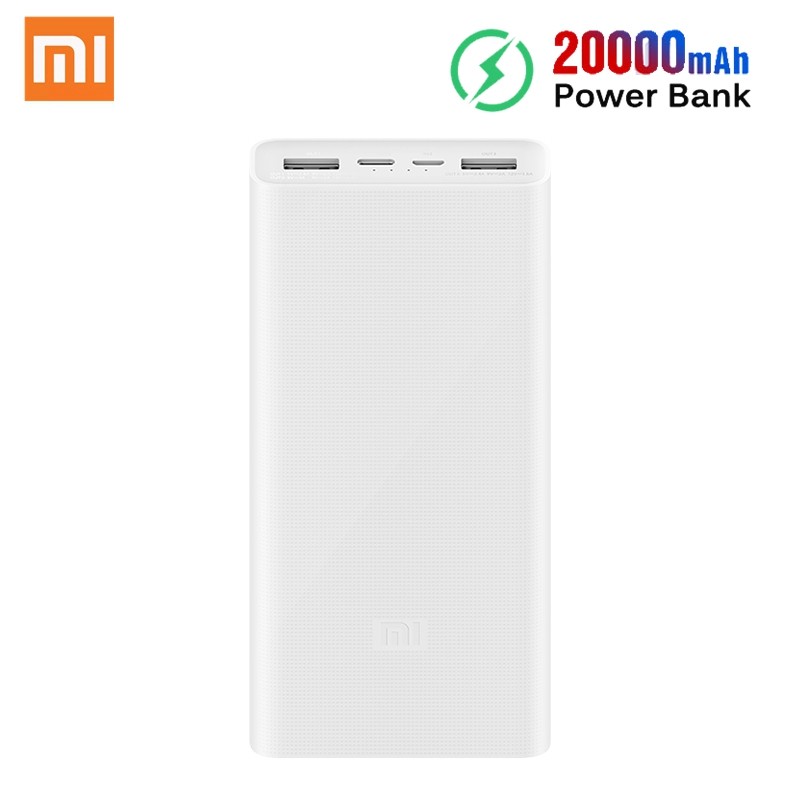 <font><b>Xiaomi</b></font> Original <font><b>Mi</b></font> Power Bank 3 <font><b>2C</b></font> <font><b>20000mAh</b></font> USB-C 18W Two-Way Fast Charge QC 3.0 Dual USB Type-C Portable Charger <font><b>Powerbank</b></font> image