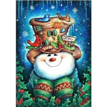 Diamond Embroidered Christmas Bear 5D DIY Cartoon Painting Full Round Gift