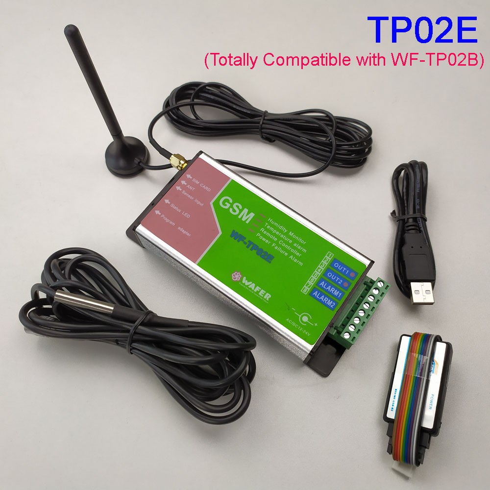 GSM Temperature Monitoring ,SMS Alarm, Email Data Log Report Battery Inside For Power Failure Alarm Compatible With WF-TP02B