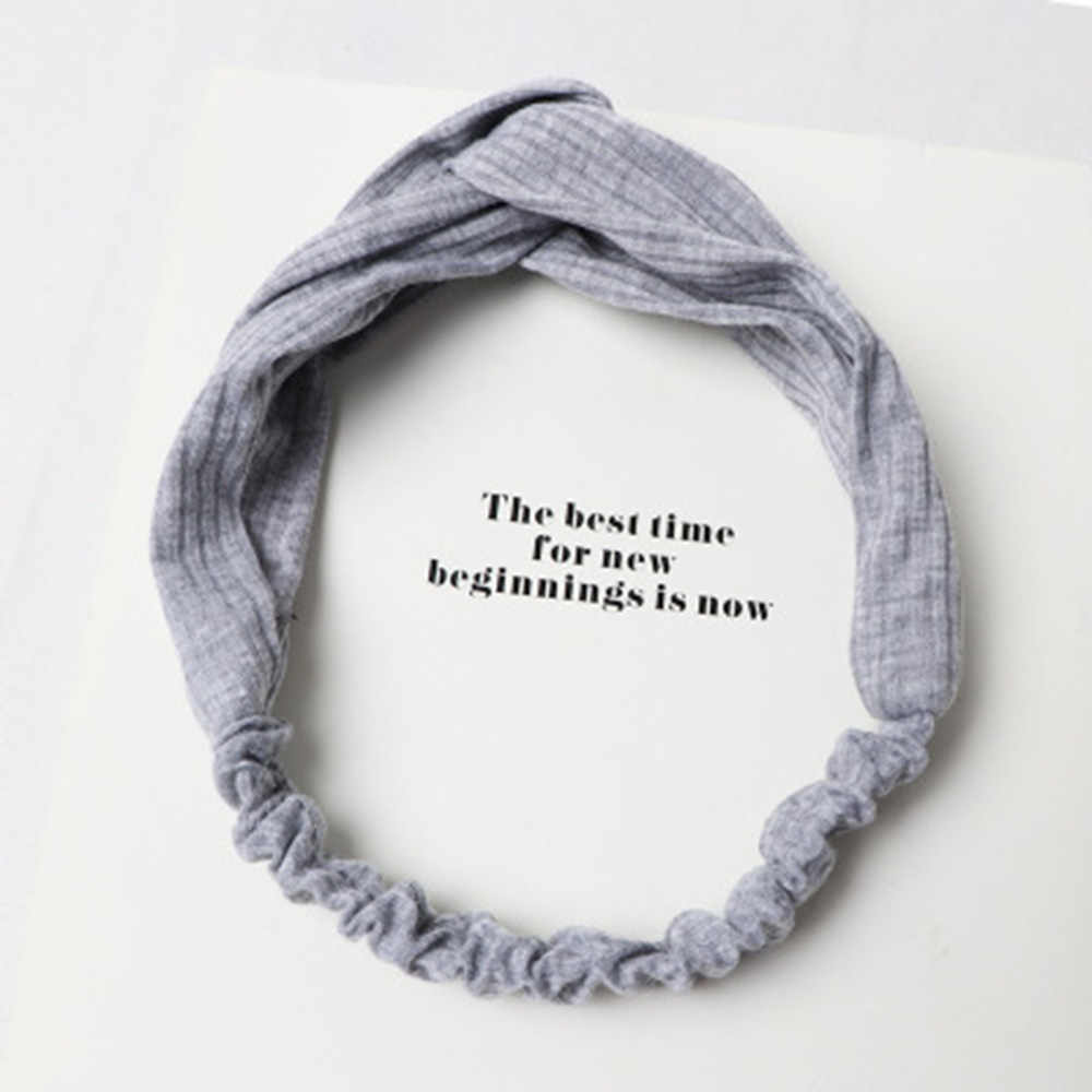 Korean Version of The Hair Band Ladies Temperament Knit Cross Sports Solid Color Korean Jewelry Headband hair accessories