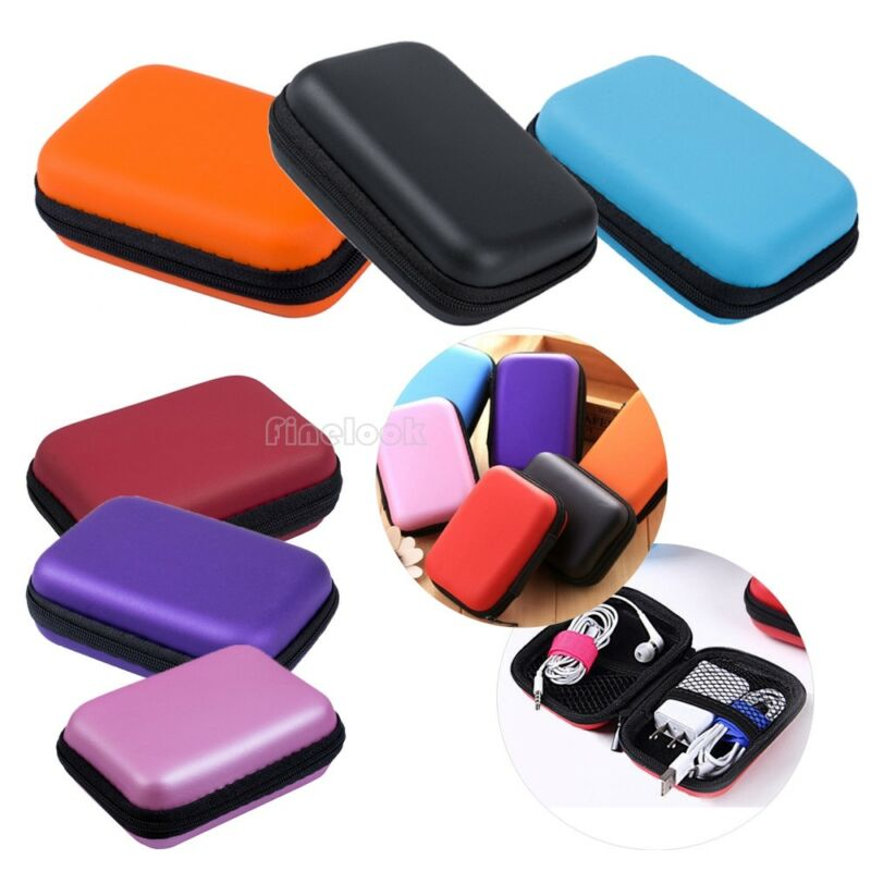Storage Case Bag Pouch Box For SD TF Card Earphones Headphones Headset Mini Storage Bag