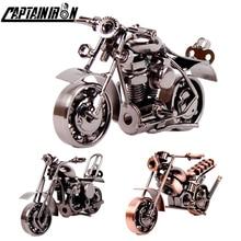CAPTAINIRON Handmade Iron Motorcycle Model Retro Motor Figurine Metal Decoration Iron Motorbike Prop Vintage Home Decor