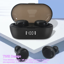 Auricolare Bluetooth 5.0 Mini TWS cuffie Wireless vere auricolari sportivi con microfono custodia di ricarica Display digitale della batteria