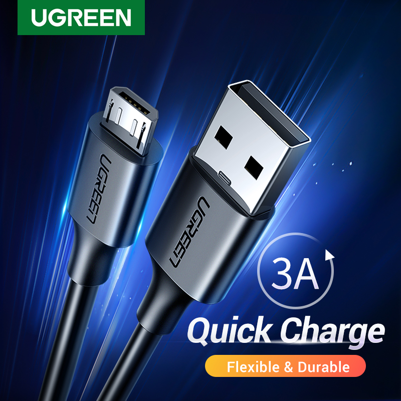 Ugreen Micro USB Cable 3A Fast Charging USB Data Cable Mobile Phone Charging Cable for Samsung HTC LG Android Tablet USB Wire