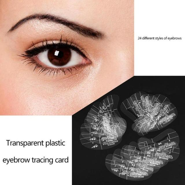 24pcs Reusable Eyebrow Shaping Stencil DIY Eye Brow Drawing Styling Guide Template Card Makeup Beauty Tool 3