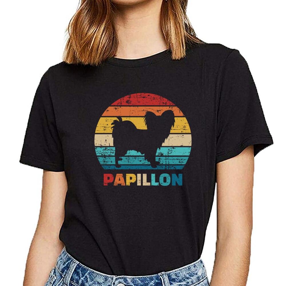 Tops T Shirt Women papillon Funny Vintage Custom Female Tshirt thumbnail