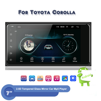 7 Android 2 Din Car Stereo Radio Car Multimed Player GPS Wifi Autoradio Bluetooth For Toyota Corolla Rear View Camera FM Radio image