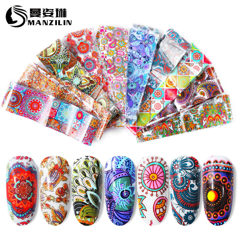 AliExpress Hot Selling Manicure Transfer Star Stickers Nail Sticker Star Paper 10 Mixed 4*20 Cm