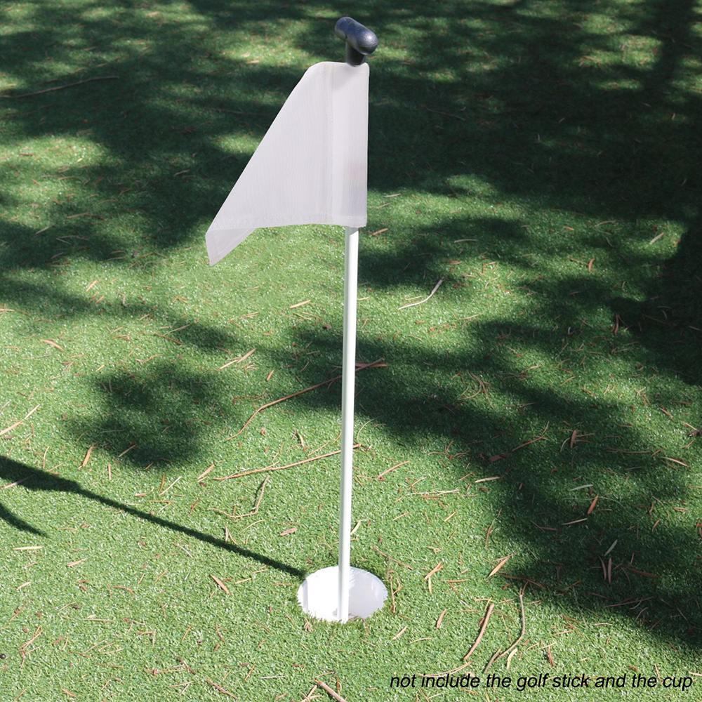 Golf Training Aids Flag Plastic Golf Hole Cup Putting Putter Golf Flag Stick Yard Garden Training Backyard Practice Putting