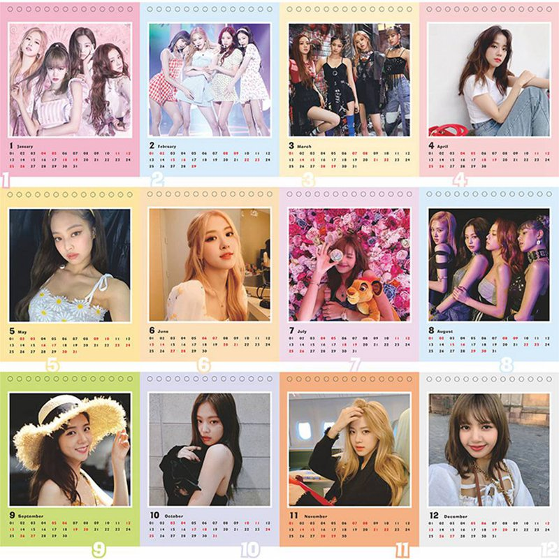 BLACKPINK EXO Desktop Stereo 2020 Calendar Poster Map Of The Soul Persona Concept Glossy 2020 Calendar Poster Home Decoration