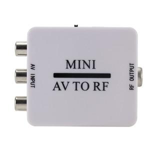 Image 2 - Mini HD Video dönüştürücü kutusu RCA AV CVSB RF Video adaptörü dönüştürücü destekler MHz 61.25 67.25 TV anahtarı