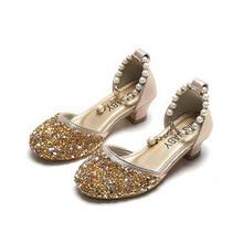 ילדי נסיכת נעלי בנות מרי ג יין סנדלי נמוך העקב Sparkle ריינסטון ריקוד נעלי 2020 ילדי הילדה המפלגה שמלת נעליים