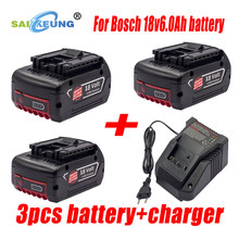 Replace Bosch Professional Battery 18V 6.0Ah Power Tool BAT609 BAT618 BAT610 BAT619 Rechargeable Lithium Battery 6000mAh
