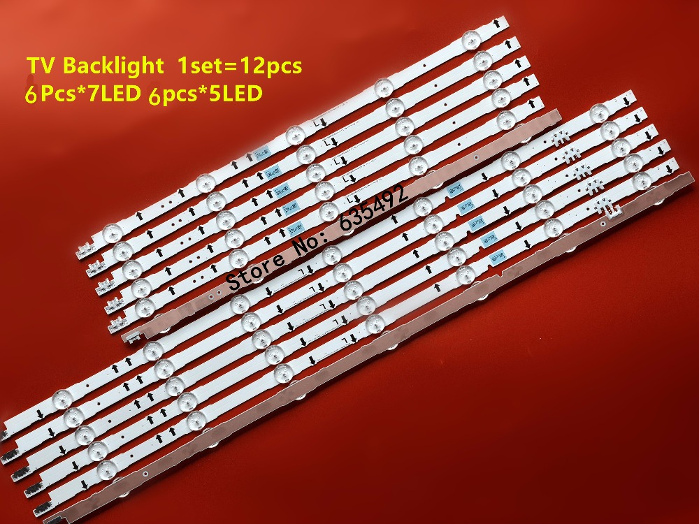 New 12 PCS LED Strip 2014SVS55 D4GE-550DCA-R3 D4GE-550DCB-R3 For Sam Sun UE55H6800 UE55J5600 UE55J5510 UE55J6300 CY-GH05BGLV4H