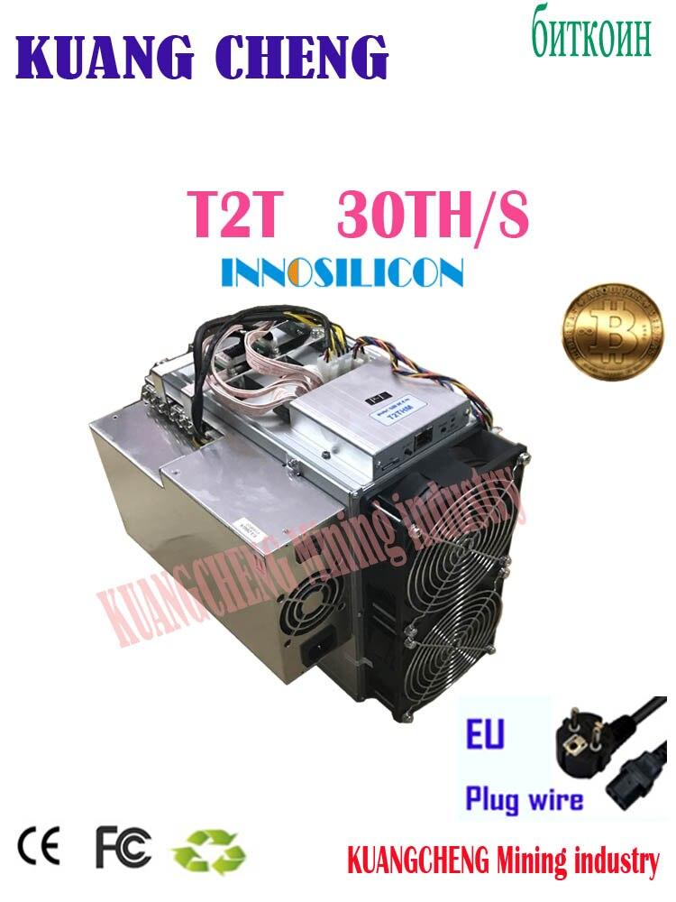 Utilisé vieux 80%-90% Innosilicon T2T 30T avec PSU Bitcoin BTC BCH Miner mieux que Antminer S9 S11 S15 S17 T9 + T15 T17 what sminer