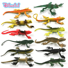 цены 12pcs New Simulation Small Lizard Tree Reptile animal model Lifelike action figure home decor Gift For Kids toys for children