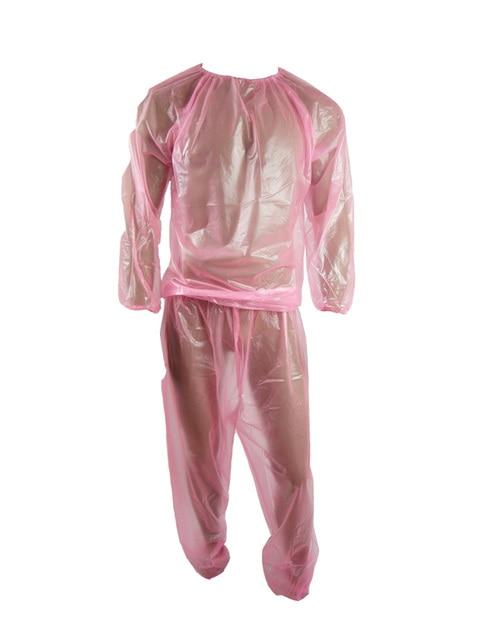 Haian PVC Jogging Suit Sauna traje Color transparente Rosa P013 5
