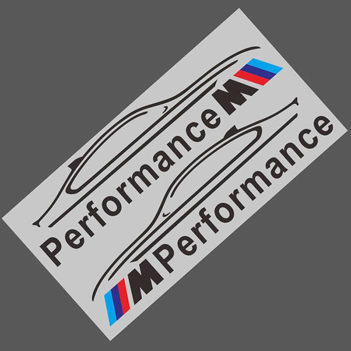 2 uds pegatina de espejo retrovisor de coche M de rendimiento de la etiqueta engomada para bmw M etiqueta engomada X1 X3 X4 X5 X6 X7 e46 e90 f20 e60 f10 accesorios de coche