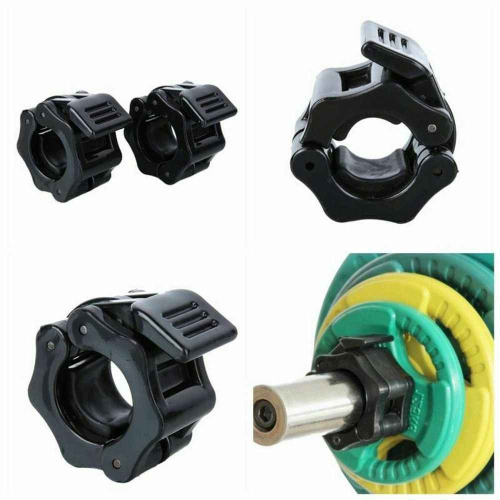 1 Pairs Olympic Barbell Collars 25mm//50mm Dumbell Bar Clamps Weight Lifting