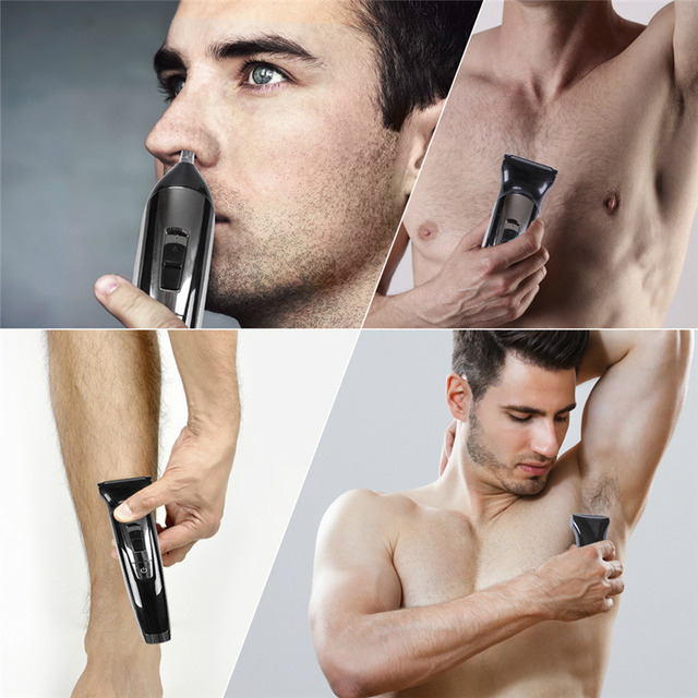 Facial body electric shaver grooming kit hair shaver for men beard wet dry shaving machine all in one electric razor 100v-240v 2