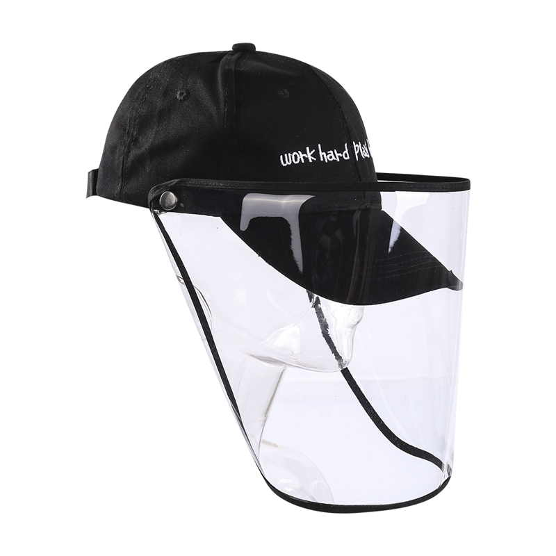 2020 Fashion Trend Women Men Safety Baseball Hat Anti-Dust Anti- Splash Protection Removable Cover Caps Prevent Droplets Cover