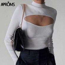 Женский трикотажный свитер aproms элегантный однотонный мягкий