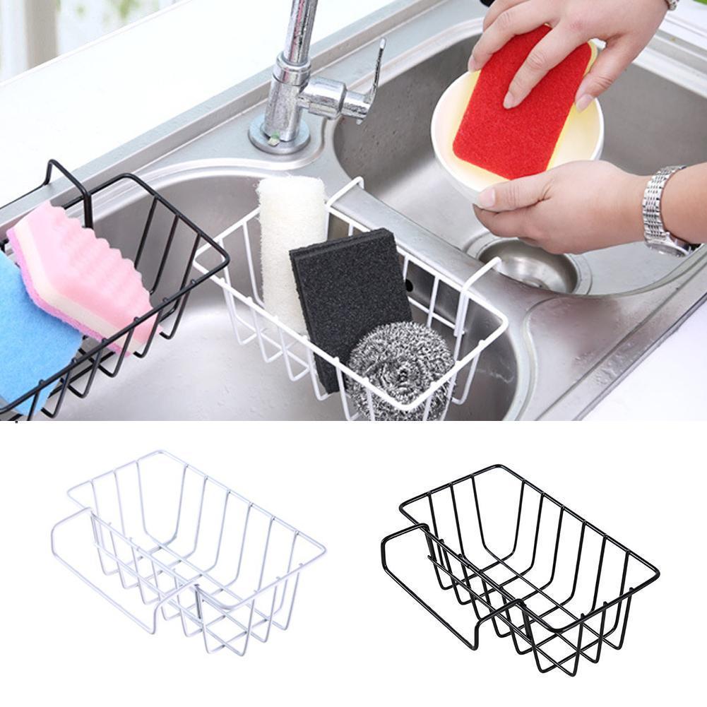 Hanging Storage Holder Sink Basket Drying Sponge Shelves Drainer Rack Organizer