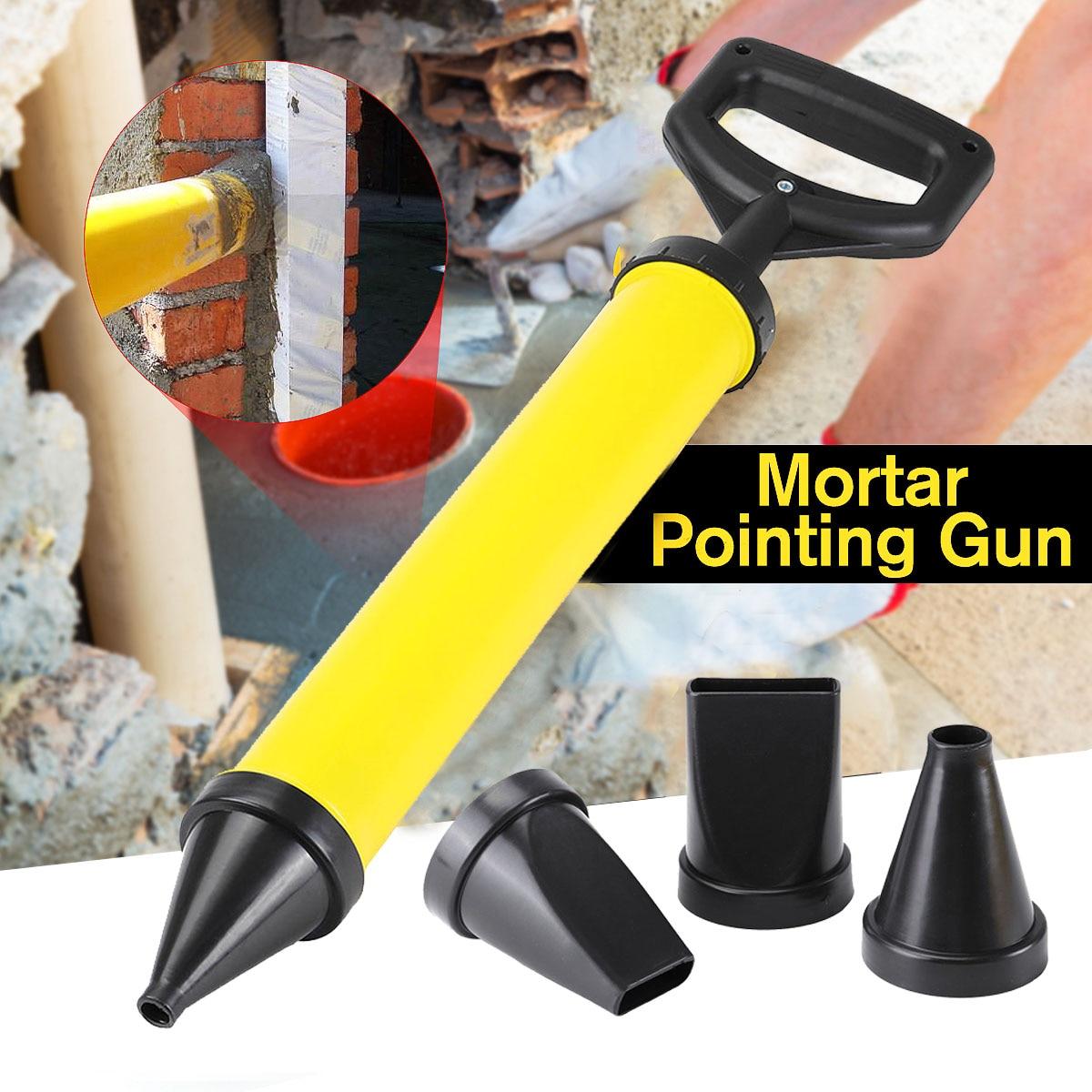 4pcs Nozzles Cement Lime Hand Tool Set Caulking Spray Guns Pointing Brick Grouting Mortar Sprayer Applicator Hand Tool Set