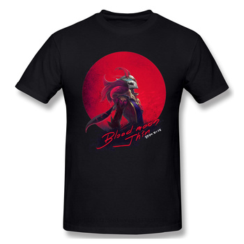Blood Moon Jhin Casual T Shirt Hot Sale League Of Legends LOL MOBA Tee Shirt 100% Cotton O Neck T-shirts 1