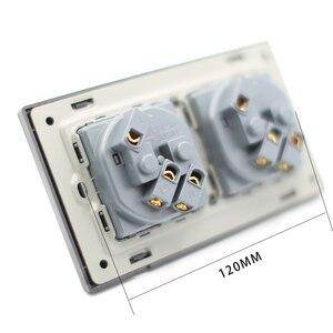 Image 5 - EU Double Power Socket Schuko, Schuko Power Panel, 16A EU Standard Wall Outlet