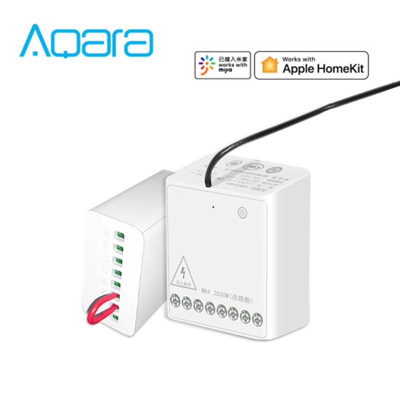 Aqara Two-way Control Module Wireless Relay Controller 2 Channels Work For Mi Home APP Apple Home Kit