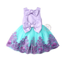 6M-5Years Toddler Newborn Baby Kids Girls Dress Lace Bowknot  Tulle Birthday Formal Wedding Party Dresses For Girl Costumes