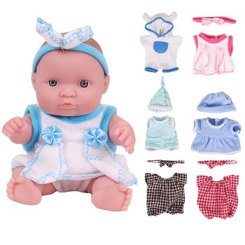 8 Inch Full Silicone Vinyl Body Sets Lifelike Reborn Baby Doll Toy Realistic Baby Dolls For Children Birthday Christmas Gift цена 2017