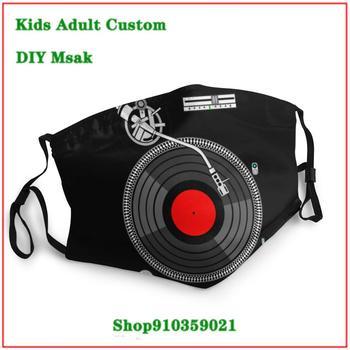 Trendy pop mascarillas con filtro estampadas Dj Turntable masque adulte lavable kids men women children face mask