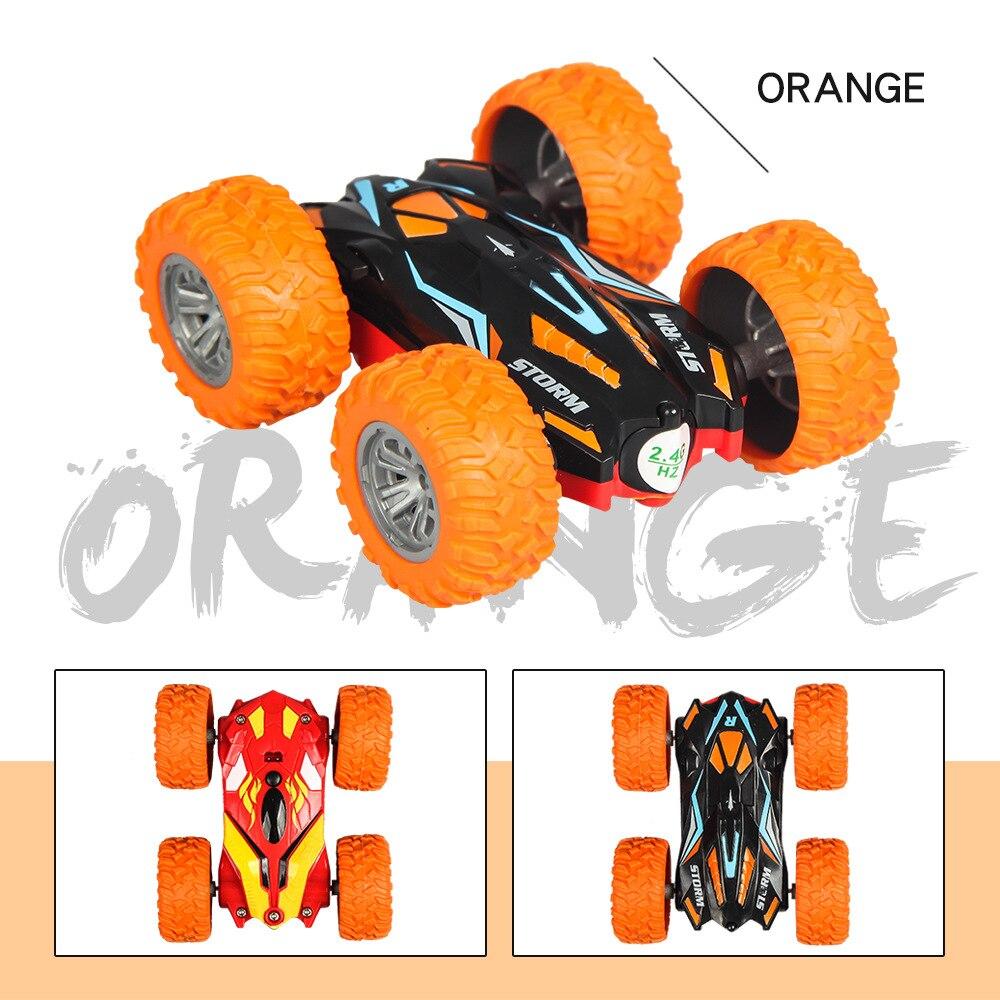 1/32 радиоуправляемая трюковая машина высокоскоростная крутая гусеничная машина 360 градусов переворачивается Багги машина двухсторонняя вращающаяся крутая Радиоуправляемая машина детская игрушка - Цвет: Orange