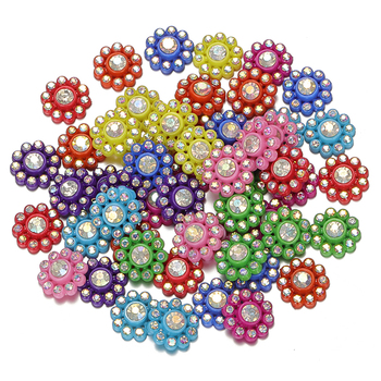 100pcs 13mm Multicolor Resin Rhinestone Flatback Cabochon Patch For Jewelry Making DIY Hair Accessories Embellishments Material недорого