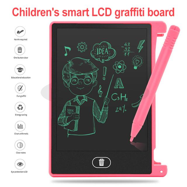 4.5 Inch Writing Drawing Tablet for Children Kids LED Digital Board Notepad Digital LCD Graphic Board Handwriting Bulletin Board