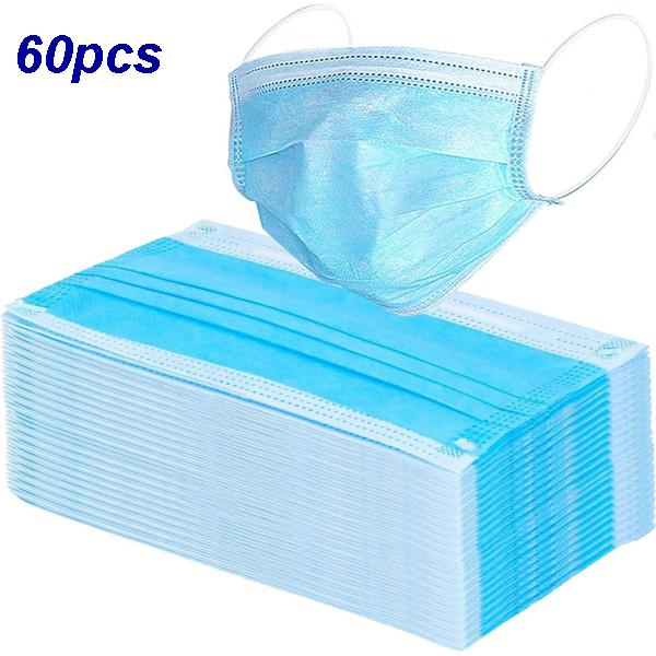 Mask 3-Ply Nonwoven Disposable Elastic Mouth Soft Breathable Face Mask