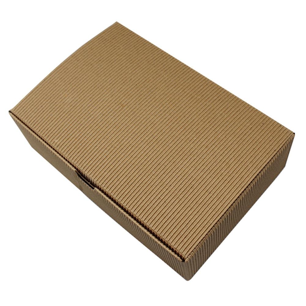 DHL, 100 шт./лот, 18*12*5 см, Гофрированная коробка из крафт бумаги, картонная коробка, коробка для свадьбы, дня рождения, вечеринок, конфет, выпечки, торта, упаковка, посылка