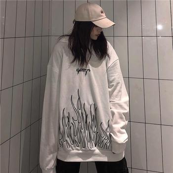 print long sleeve Pullovers oversized harajuku hoodie plus size Summer clothes sweatshirt women korean style streetwear tops 14