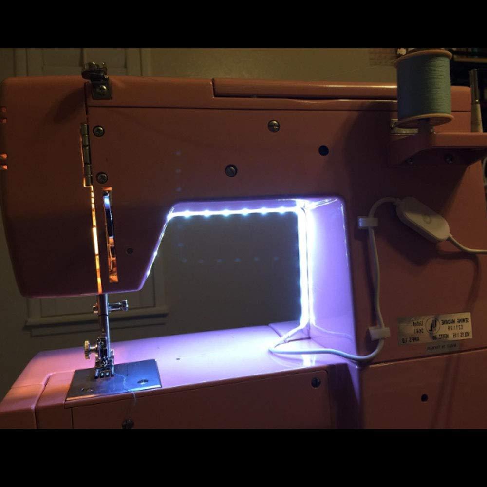 Imperméable à l'eau 30cm 50cm USB alimenté Machine à coudre kit de bande LED avec variateur tactile Machine industrielle fonctionnant LED lumières 5